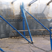 Equipment for steel tank construction