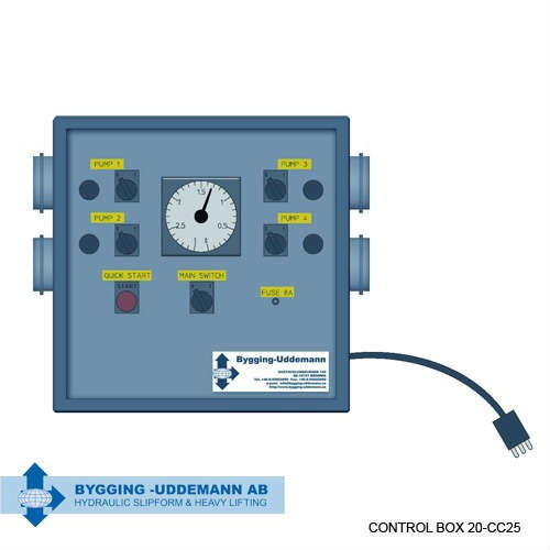 Hydraulic control box 20-CC20 | Bygging Uddeman