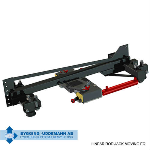 Linear rod jack moving equipment for IP-CCV | Bygging Uddemann