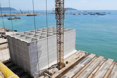 Wharf & Breakwater, Son Duong Port, Vietnam