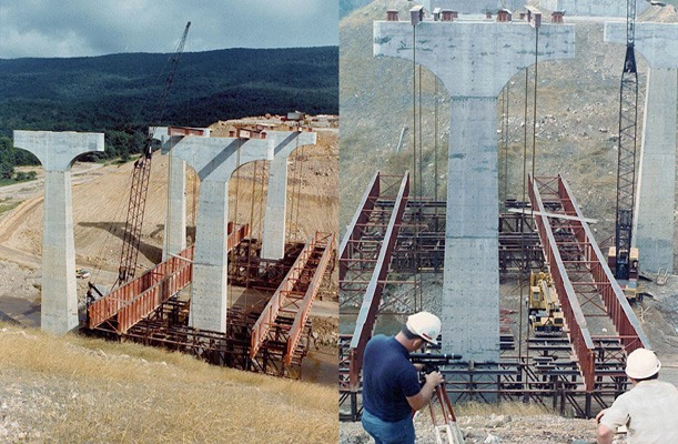 Lifting of Bridge Section - Rocky Gap, West Virginia, US.
