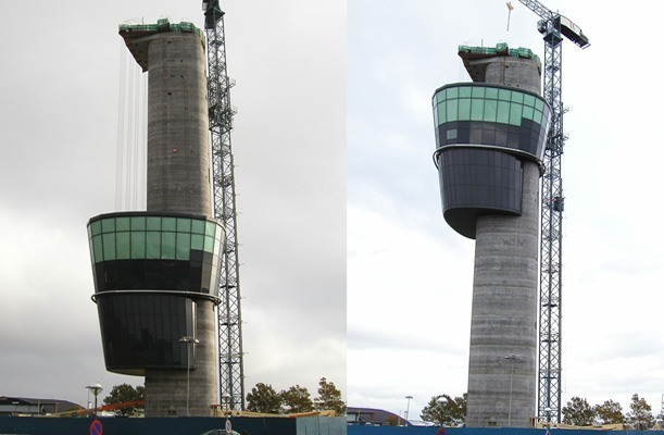 Lifting of Radar Tower - Kastrup, Denmark