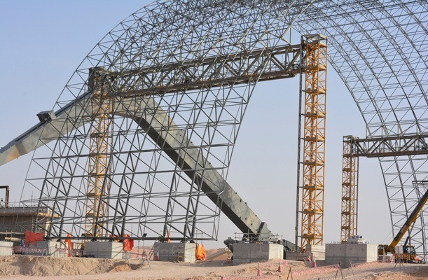 Lifting of Space Frame - Abu Dhabi