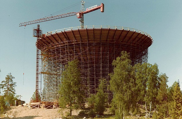 Lifting of Formwork, Water tower - Gävle, Sweden