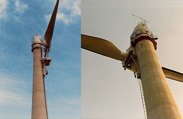 Lifting of generator, Wind Power Tower - Gotland, Sweden