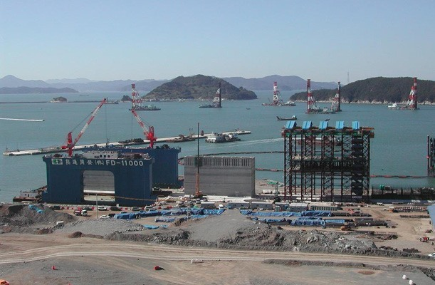 Transfer of Caissons - Pusan, Korea