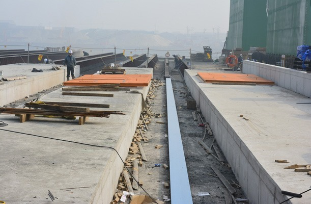 Transfer of Caissons for Passenger Port - Incheon, Korea