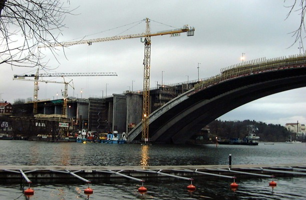 Caissons for Bridge Foundation - Tranebergsbron, Sweden