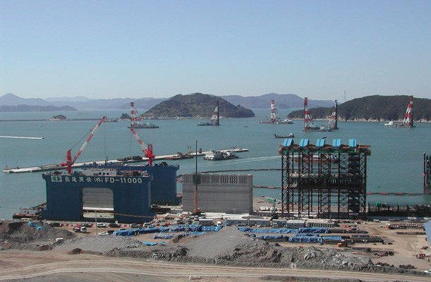 Caissons for Container Terminal - Pusan, Korea