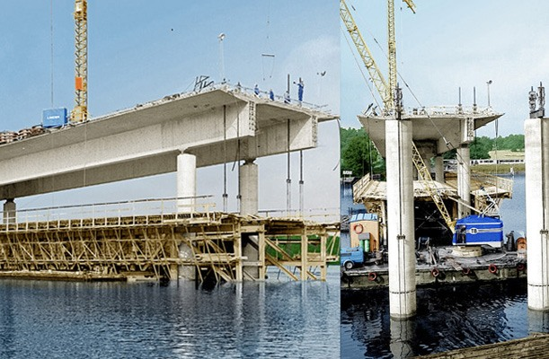 Lifting of Formwork - Nockeby Bridge, Sweden