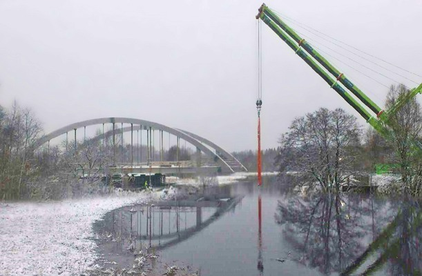 Bridge Launching - Borås, Sweden