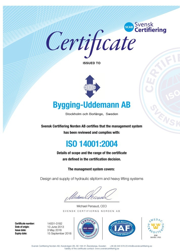ISO 14001- 2004 certified
